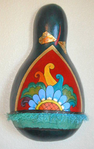 gourd art Cool Breeze by Mary Fahey