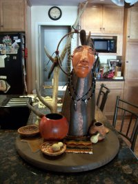 gourd art by Barbara Carpenter